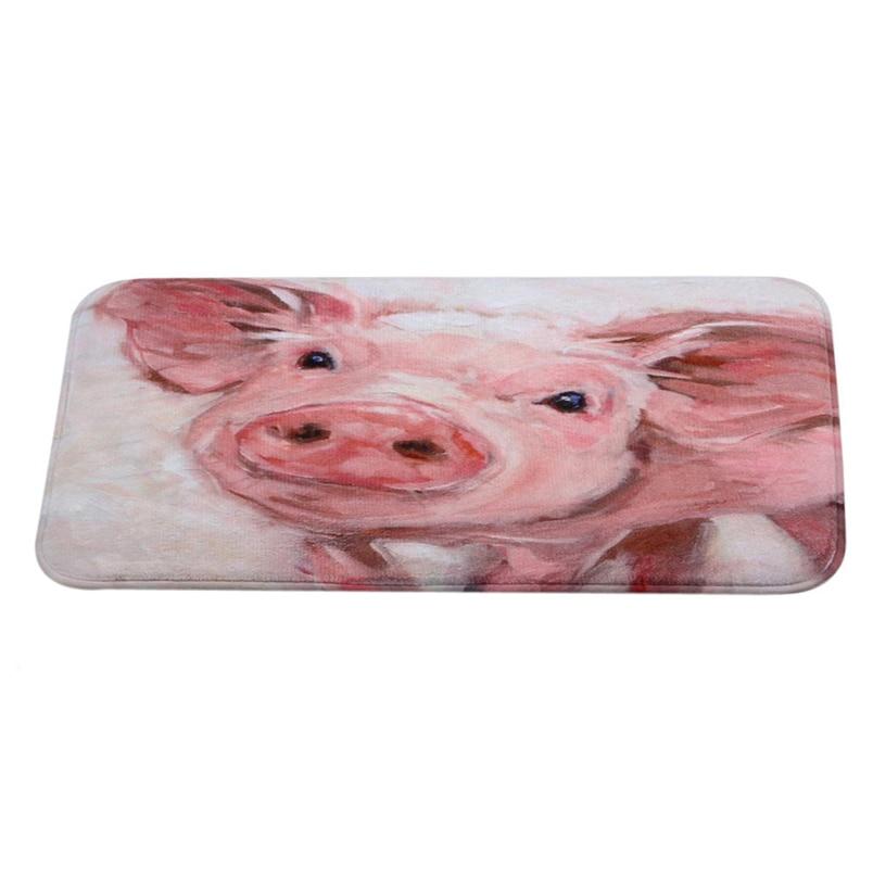Ouneed doormat lovely pig Welcome Doormats Indoor Carpets Rag Rug Bathmat Room Floor Mat Home Decoration*30 GIFT 2017