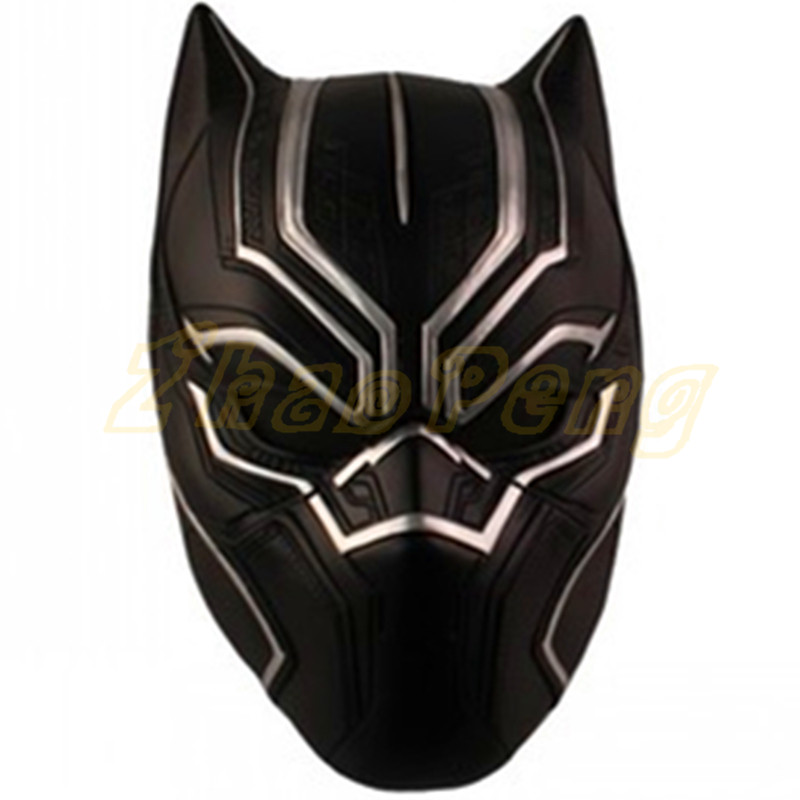 Black Panther Masks Halloween Captain America: Civil War Movie Masquerade T'Challa action Full Face Helmet toy Mask Cosplay Prop avengers captain america 3 civil war black panther 1 2 resin bust model panther statue panther half length photo or portrait