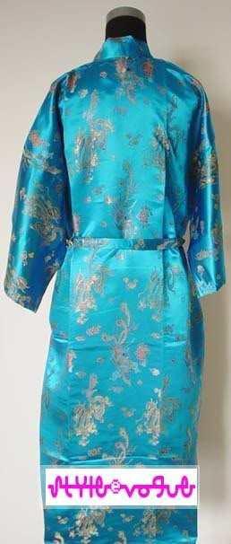 aad9591e4d Ladies Robes Chinese Kimono Robe Satin Dragon Phoenix Bath Robe With Belt  Sleepwear Robes S M L XL