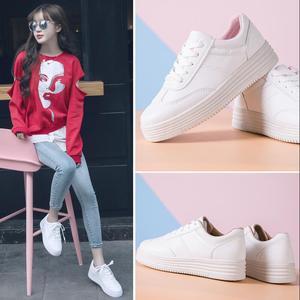 Image 5 - ฤดูร้อนรองเท้าผ้าใบสีขาวรองเท้าแพลตฟอร์มตะกร้าFemmeความสูงสุภาพสตรีรอบToeหญิงTenis Femininoสีดำ44