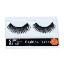 Stage Beauty Tools Natural Thickness Synthetic Fiber Material Plastic Cotton Stalks False Eyelashes 1 Pairs