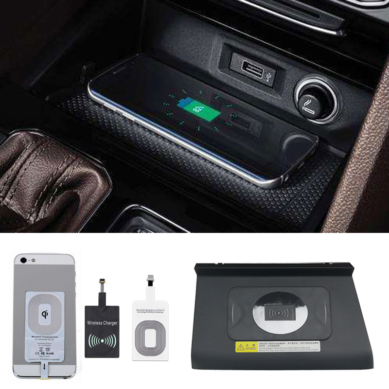 For VW Tiguan Allspace 2017 2018 on board QI wireless phone charger 10W fast charging plate