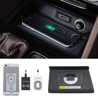 For VW Tiguan Allspace 2017 2018 car QI wireless charger module fast charging plate wireless receiver accessories for iPhone 8 X