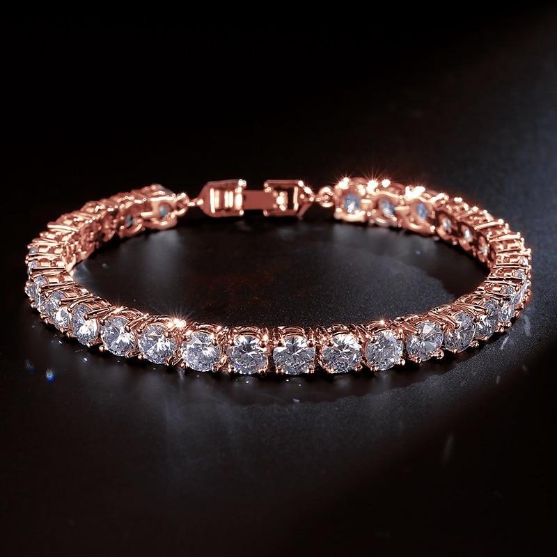 UILZ Циркон Рим невесты свадебный браслет и браслеты хип хоп ювелирные изделия Cut 5,0 мм CZ теннис для женщин/вечерние JMBP051