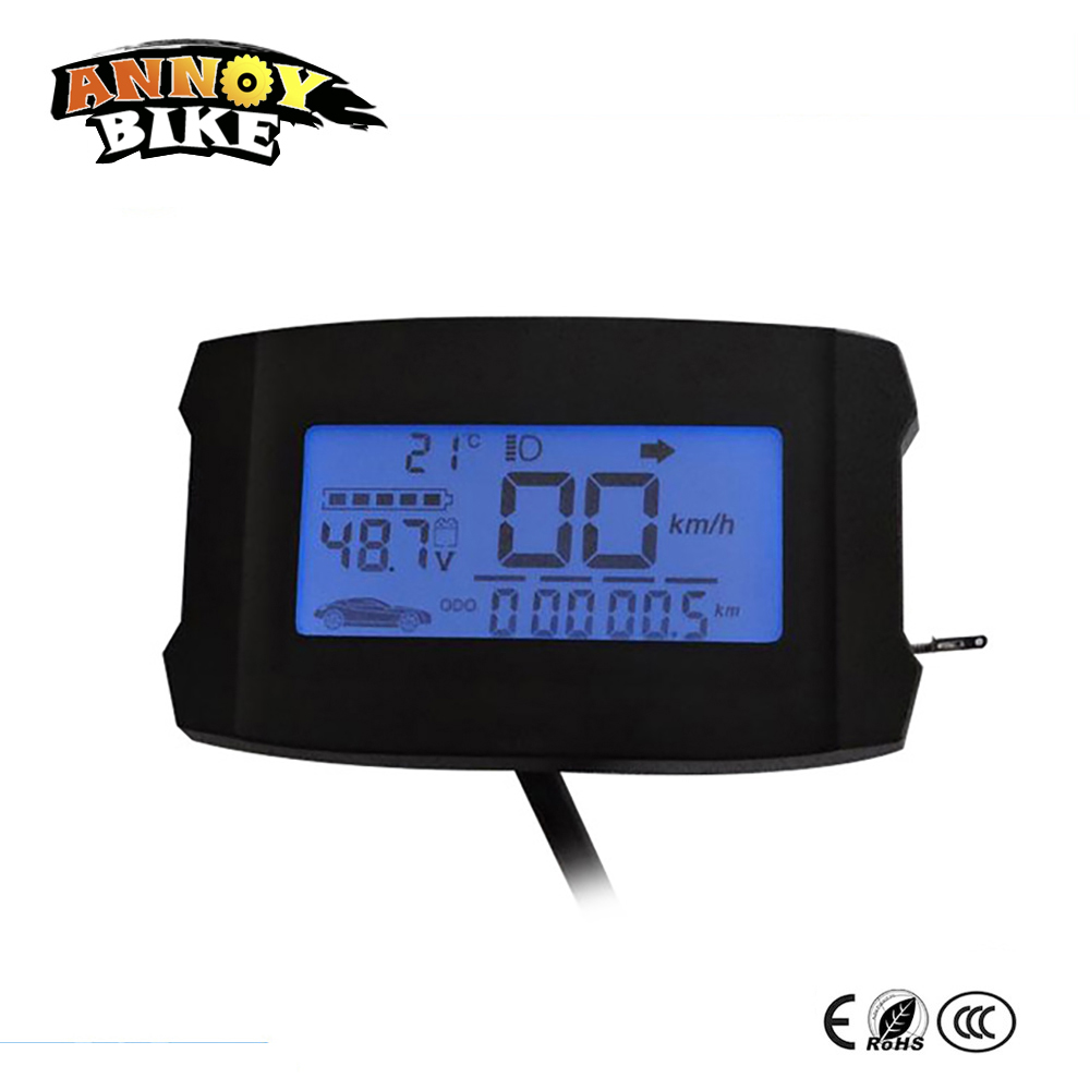 48v 60v 72v 84v 96v Electrice bike scooter LCD display electric bicycle accessories waterproof LCD display