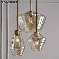 Nordic Design Lamps Modern LED Pendant Light Glass Lampshade Hanging Lights Pendant Lighting Home Deco Loft Lamp Luminaire