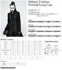 PUNKRAVE, chaqueta Punk militar para mujer, chaqueta de lana con cuello alto, abrigo de talla grande, negro, motocicleta, Casual, señoras, prendas de vestir, gabardina - 6