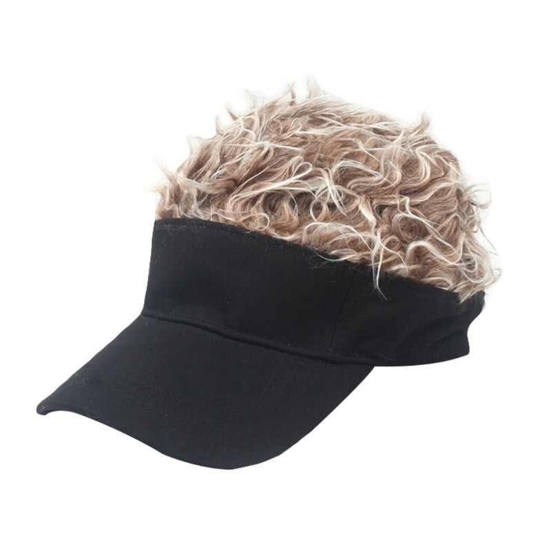 buy cheap hot product hot product 2019 New Men's and women's golf hats golf caps outdoor sports wigs hair  wigs hats visor