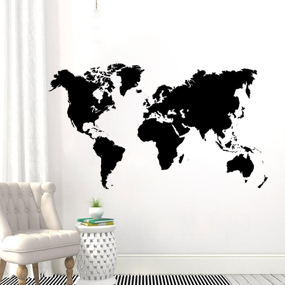 Декор для дома карта мира виниловые Стикеры съемный Map настенные творческий мир Карты обои Гостиная Виниловые фрески AY1430