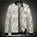 Горячая! Новая весна мужская мода высокая - класс большой размер сломанный цветок воспитать в себе отдых куртка, Мужская марка