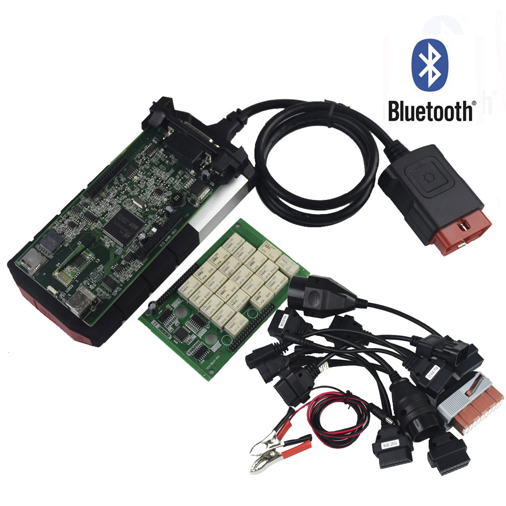 NEW VCI for DELPHIS DS150E TCS CDP PRO Plus for Bluetooth 2015.R3 keygen OBD cars trucks OBDII diagnostic tool with bluetooth japen nec relay latest new vci vd tcs cdp pro bt obd2 obdii obd with best pcb chip green single board