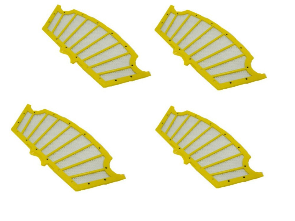 4XFilter for iRobot Roomba 500 Series Replenishment Kit for Red and Green Cleaning Heads parts for vacuum cleaner arm side brush yellow filter for irobot roomba 500 series replenishment kit for red and green cleaning heads