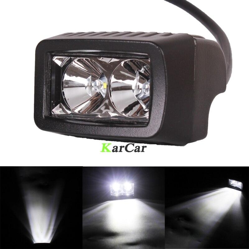 2x 1000LM 10W CREE Chip LED Offroad Work Light Worklight Off Road Bar Flood Spot Beam 12V Driving Lights Truck 4x4 4WD Van