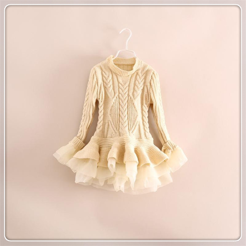 c73fa79c34 Spring Kids Girls Long Knit Sweater Baby Girl Tulle Lace Winter Princess Jumper  Pullover Tops Free Shipping-in Sweaters from Mother   Kids on  Aliexpress.com ...