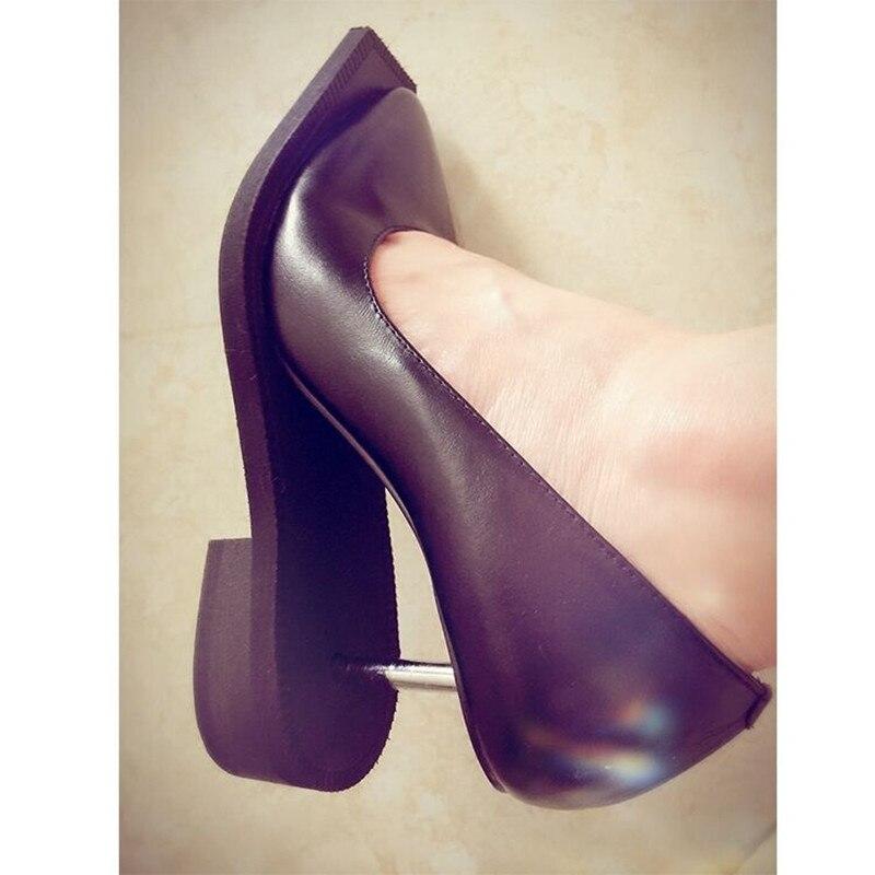 37c4c54a4a8 Talons Pour Étrange Nouvelle De Noir Femme Black Porc Robe Top Soirée  Pompes Peau 2019 Métal Hauts Chaussures ...