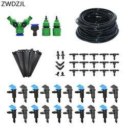 4l 8l dripper sistema de irrigação automática diy kit de rega de 2 vias com efeito de estufa irrigação por gotejamento planta rega