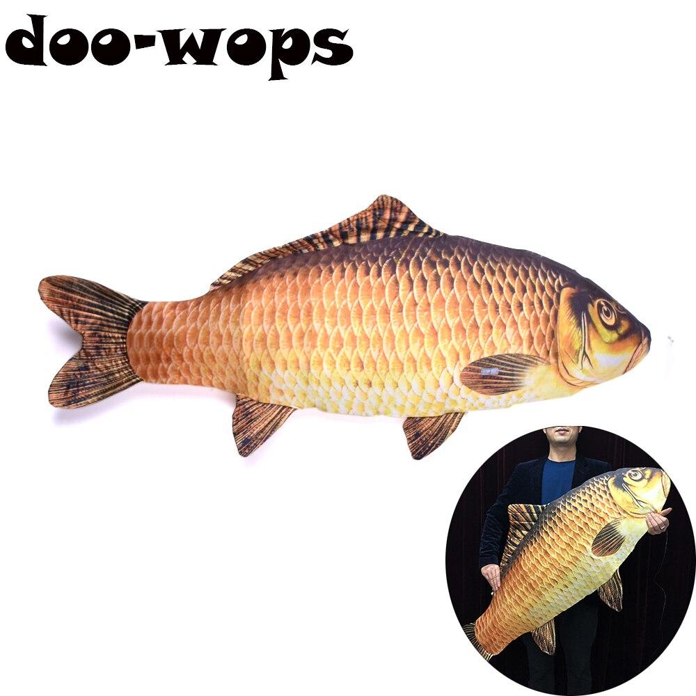 En peces (130 cm grandes) trucos de Magia de pescado aparecen de bolsa Magia mago etapa ilusiones truco apoyos mentalismo 2018 nuevo
