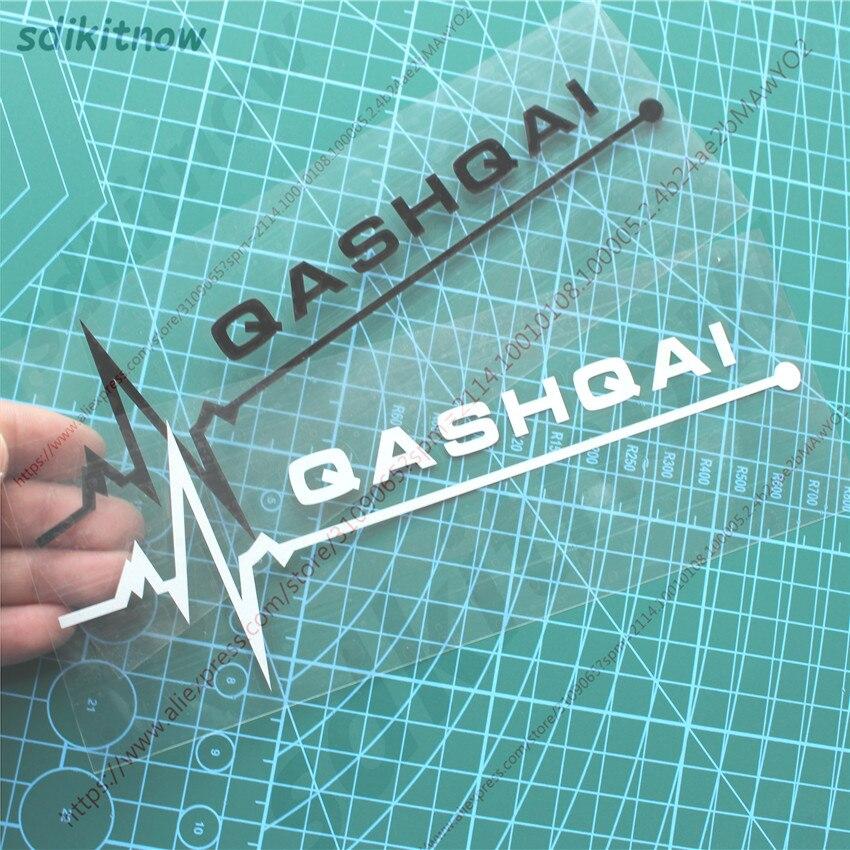 New Heart BEATS Car Decal Sticker Styling Windows Door Decoration For NISSAN QASHQAI J10 J11 2018 2019 2011 2008 Accessories