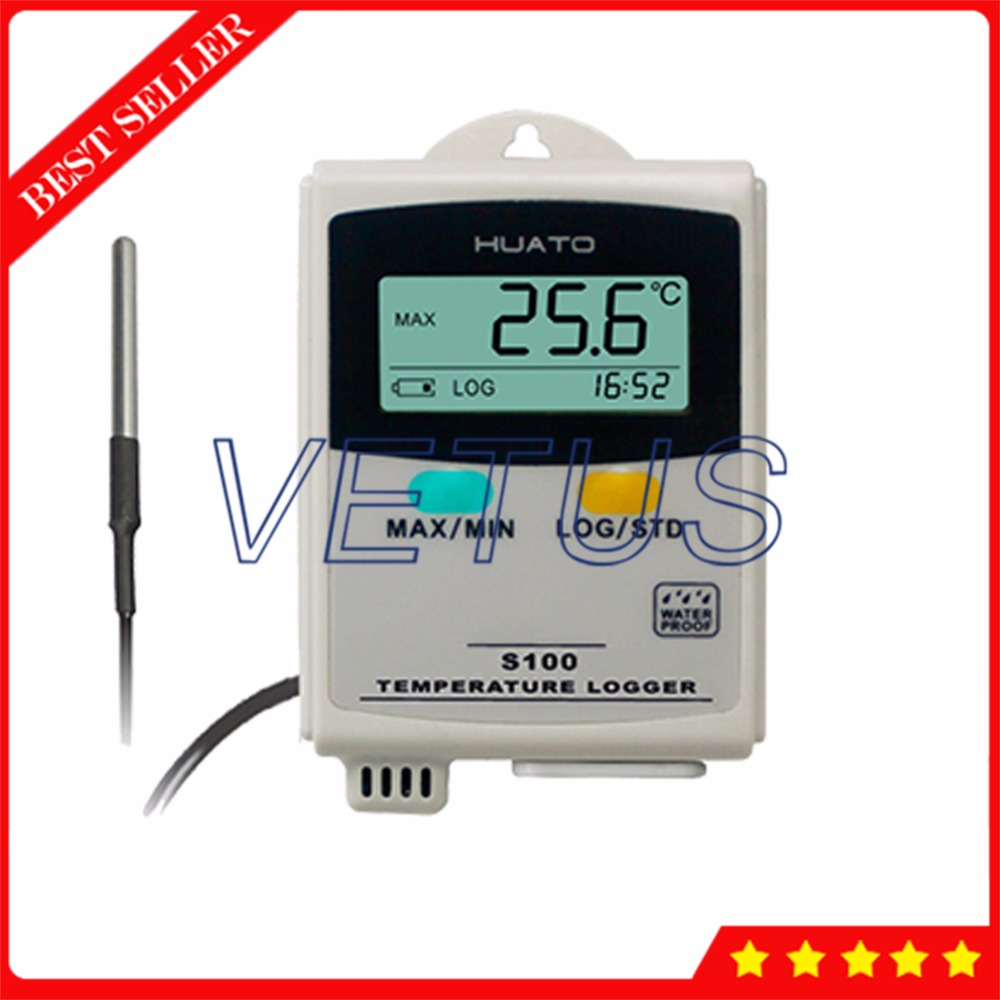 S100-ET USB Data Logger LCD display Temperature Recorder with External Sensor 100 100c usb data logger s100 ept temperature datalogger with external sensor 4 3000 points storage function