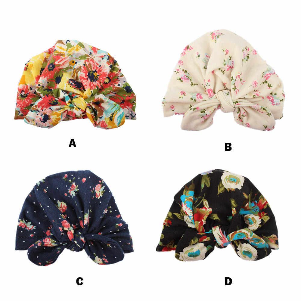 น่ารักทารกแรกเกิดเด็กวัยหัดเดินเด็กทารกเด็กทารกเด็ก Turban หมวกผ้าฝ้าย Beanie หมวกฤดูหนาวหมวกเด็กทารกแรกเกิดเด็กวัยหัดเดิน Elastic หมวกเด็ก # EW