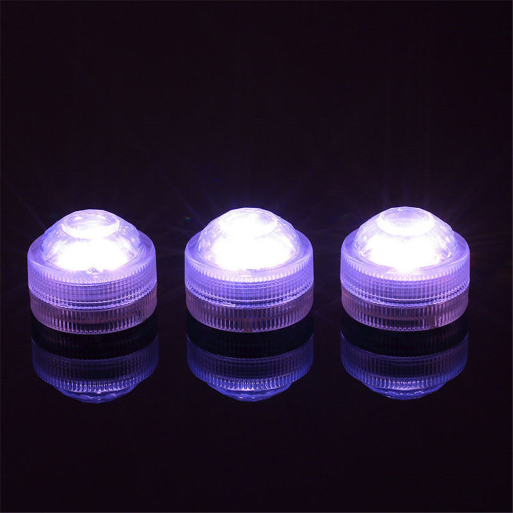 12 stykker / del fjernstyrte mini nedsenkbare LED-lamper med CR2032 - Ferie belysning - Bilde 5