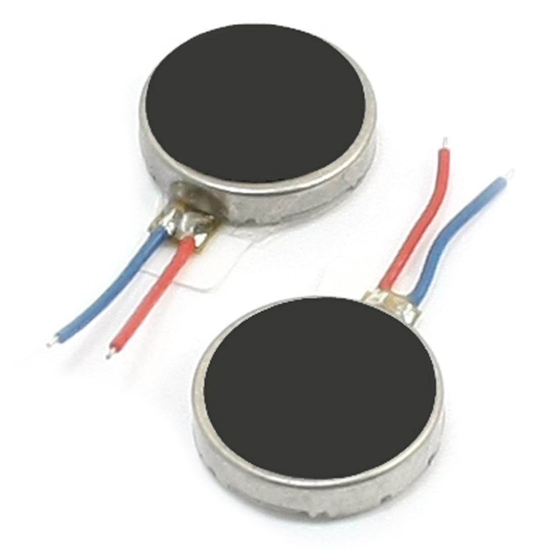 2 шт. 10 мм x 2.5 мм диск Форма Вибрационный вибрации Двигатель для сотового телефона