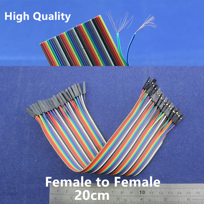 High quality Copper Wire Dupont line 40pcs 20cm Female to Female jumper wire cable For Arduino