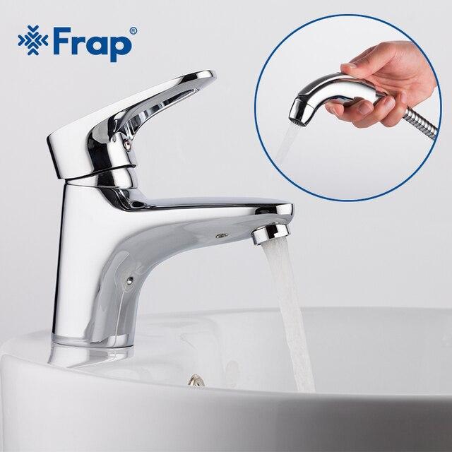 Frap מכירה לוהטת אמבטיה אגן מיקסר פליז ידית אמבטיה ברזי כיור ברז עם בידה ברז פליז גוף מים לחסוך torneira banheiro