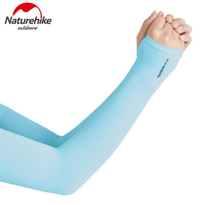 Naturehike UV Cool Arm Sleeves Men Women Sunblock Protective Gloves Running Golf Cycling Driving Oversleeve Protective
