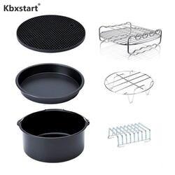 Kbxstart Air приборы для фритюрницы 7 дюймов 6 шт./компл. Friteuse подходит для 3.2QT-5.8QT кухонные инструменты для выпечки Посуда для туризма инструмент
