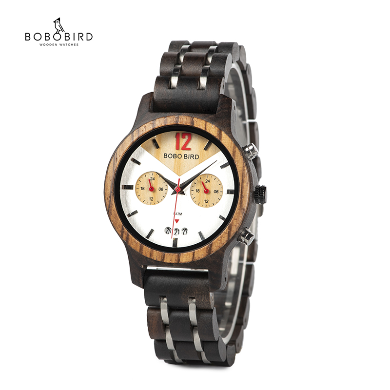 Lover's Wood Watch Men Women BOBO BIRD Smiling Face Wooden Quartz Ladies Wrist Watches Relogio Masculino Show Date Gift