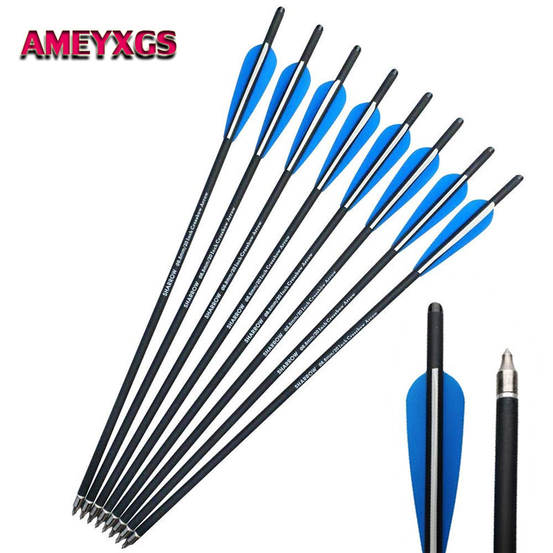 12/24Pcs 18 Archery Crossbow Carbon Arrows Bolts Target Tips 4 Vanes Replacement Broadhead For Hunting Shooting Accessories12/24Pcs 18 Archery Crossbow Carbon Arrows Bolts Target Tips 4 Vanes Replacement Broadhead For Hunting Shooting Accessories