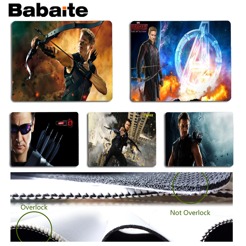 Babaite New Designs Hawkeye Customized laptop Gaming mouse pad Size for 180x220x2mm and 250x290x2mm Small Mousepad