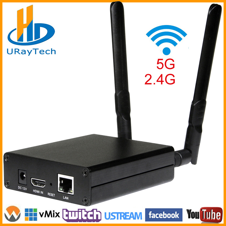DHL gratis forsendelse MPEG-4 AVC / H.264 WIFI HDMI Video Encoder HDMI Transmitter Live Broadcast Encoder Trådløs H264 IPTV Encoder