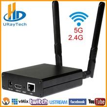 DHL Бесплатная доставка MPEG-4 AVC/H.264 WI-FI HDMI видео видеоэнкодер HDMI передатчик Live широковещательный кодер Беспроводной H264 IPTV кодер