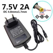 """ארה""""ב האיחוד האירופי בבריטניה AU Plug האוניברסלי 4.0mm * 1.7mm ac מתאם אספקת חשמל DC כוח DC 7.5V 2A AC מתאם אספקת חשמל"""
