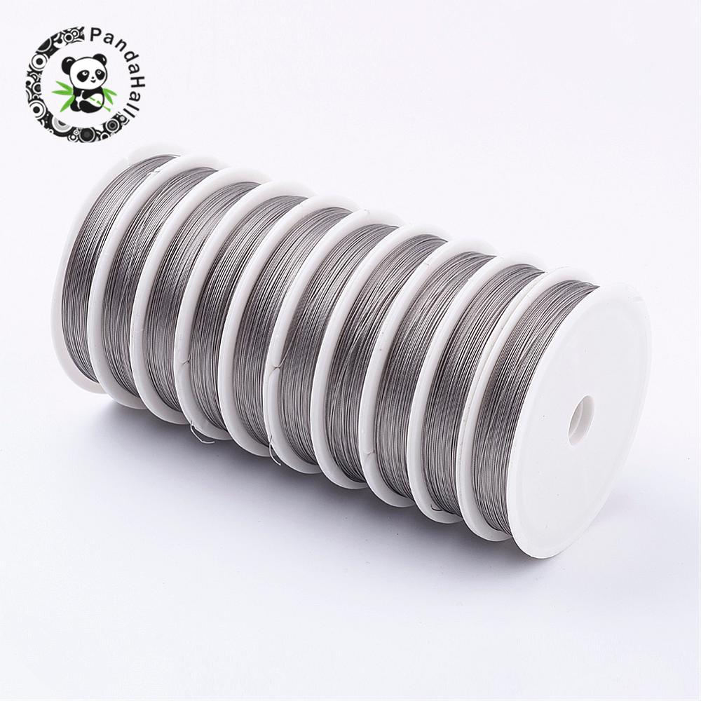 Original Color Tiger Tail, LightGrey, about 0.38mm in diameter, 80mroll