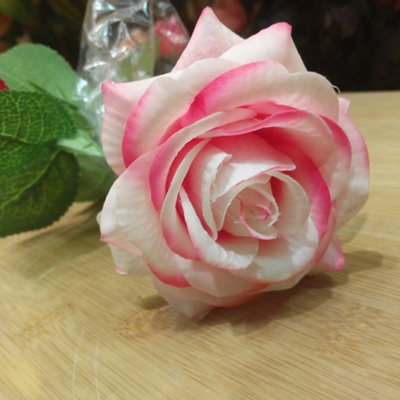 Wedding Artificial Silk Latex Rose Flowers Bouquet Bridal Decoration ...