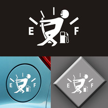hot deal buy 10*14cm 1pcs car stickers high gas consumption decal fuel oil meter cover stickers vinyl jdm reflective car stickers car styling