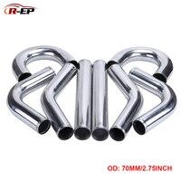 Tubo de alumínio universal R-EP/70mm 2.75 polegadas  para corrida  intercooler  admissão de ar frio 0/45/90/180 graus l/s tipo 500mm