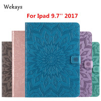 Wekays For Apple IPad 9 7 Inch 2017 Sun Flower Smart Leather Fundas Case For Coque