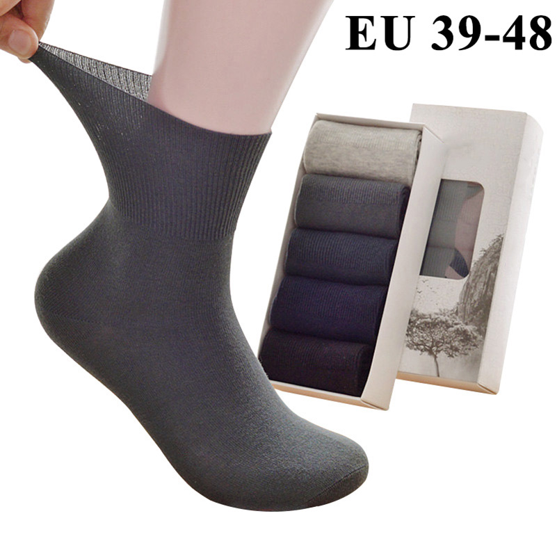 5 Pairs Men's   Socks   Meias Calcetines Sox Cotton Long Tube Crew Plus Extra Large Big Size 45,46,47,48 Casual Spring Summer   Socks