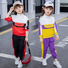 Spring Children Girls Clothing Set Print Letter Toddler Baby Girl Clothes Sports Suit 2-7 Years Kids Tracksuit Coat + Pants 2PCS 3t 4 6 8 10 12 yrs spring kids clothes girl sets children fashion 2 pcs suit jackets coat tops pants baby set girls cool suit