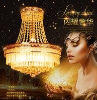 Luxus Goldene Anhänger Lichter Leuchte Suspendu Moderne Hängelampen Leuchte Hause Beleuchtung Deco K9 Kristall Beleuchtung D45CM