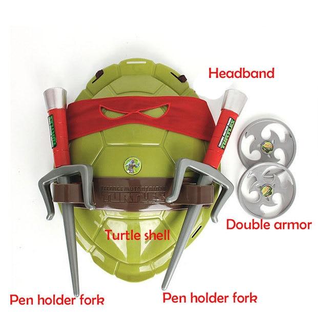 Fun Anime Movie Cartoon Ninja Toys Turtles Armor Weapons Leo Raph Mikey DonFigure Cosplay Shell Props