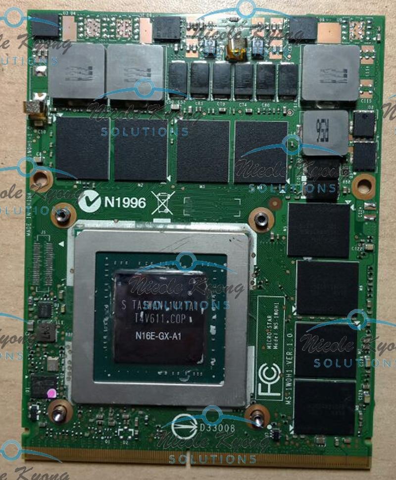 GTX 980M GTX980M 8G DDR5 256bit VGA Video Card For MSI 16F3 16F4 1762 1763 GT60 GT80 GT72 GE72 Series original gtx 980m 8g mxm sli n16e gx a1 video card for laptop notebook nvidia geforce gtx 980m free shipping via dhl ems