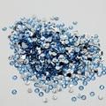 5000 unids Nail Art Rhinestone Light Sapphire Resina Non Hot Fix Rhinestones la Parte Posterior Plana para el Teléfono DIY Decoración de Uñas