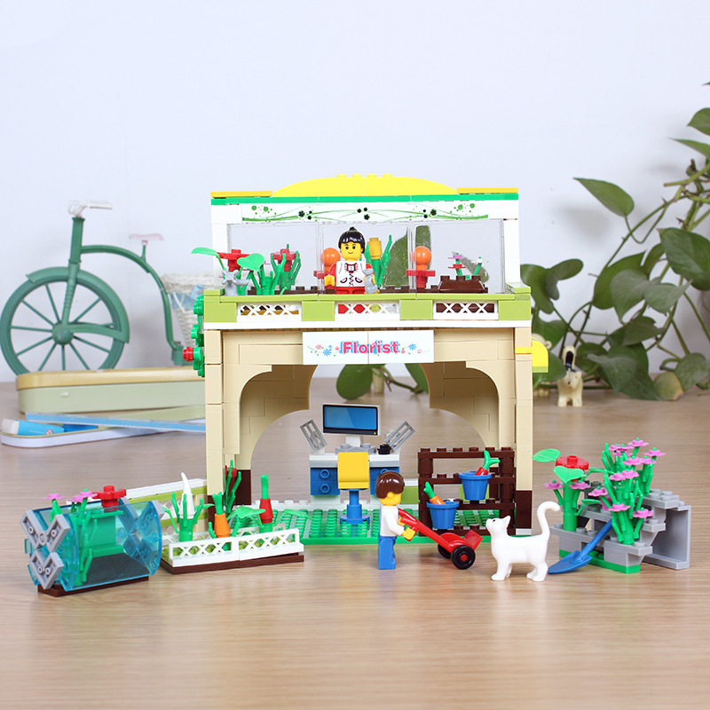 wange Mini-garden Inspired To Teach Children The Ability To Practice Building Blocks Model Kits Toys 32211N Girl Gifts