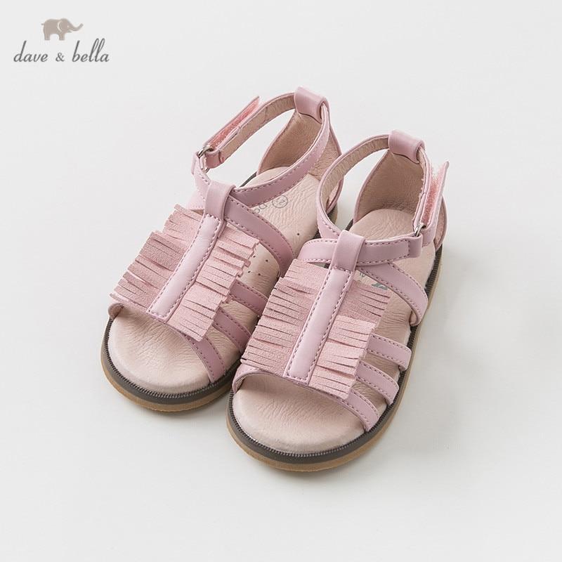 DB10259 Dave Bella été bébé fille sandales nouveau-né bébé chaussures fille sandales princesse chaussures