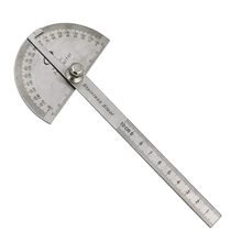 NEWACALOX Woodworking 180 Degree Adjustable Protractor Angle Finder Craftsman Ruler Stainless Steel Caliper 10cm Measuring Tools